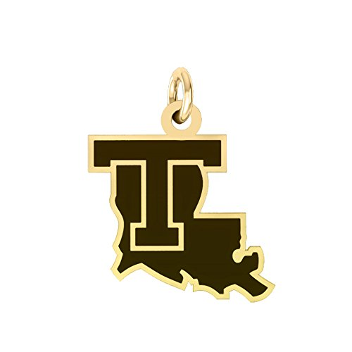 Louisiana Tech Bulldogs 14k Yellow Gold Cut Out Logo College Charm