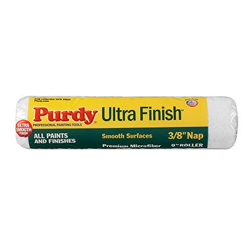 - Purdy 140678092 Ultra Finish Roller Cover, 9 inch x 3/8 inch nap