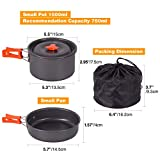 REDCAMP 12 PCS Camping Cookware Mess Kit, 800ml