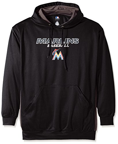 MLB Miami Marlins Men's Fleece Hood, X-Large Tall, Black / StormGrey – Sports Center Store