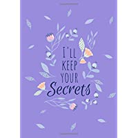 I'll Keep Your Secrets: A5 Internet Password Logbook Large Print with Tabs | Floral Design Purple Color