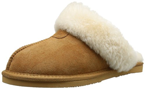 Dije California Womens Double Face Scuff Mule Chestnut
