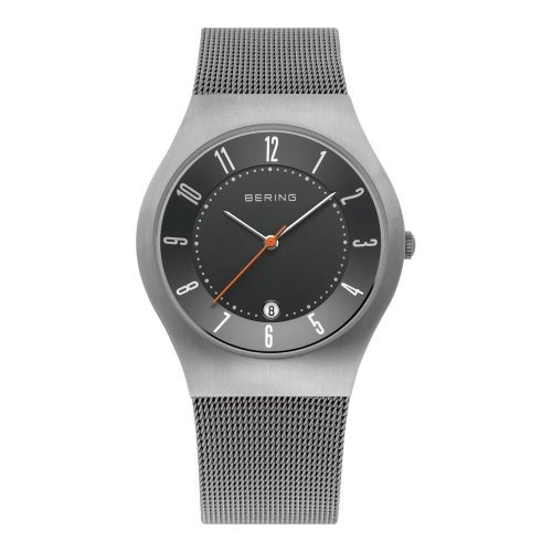 BERING Time 11937-377 Men's Classic Collection Watch with Mesh Band and scratch resistant sapphire crystal. Designed in Denmark.