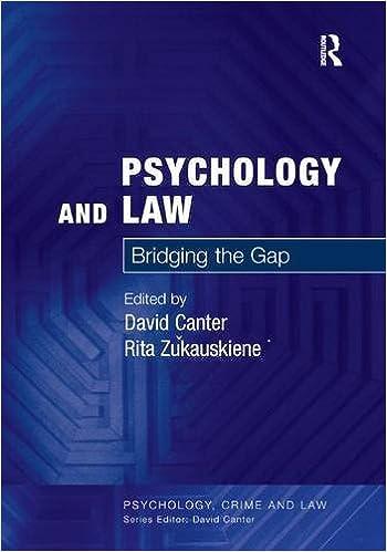 cb33118fbf6 Psychology and Law  Bridging the Gap (Psychology