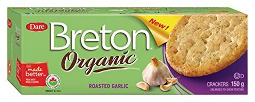 BRETON/DARE, CRACKER, OG2, RSTD GARLIC - Pack of 6 ()