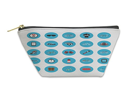 Gear New Accessory Zipper Pouch, Bike Gadget Icon, Large, 6040207GN
