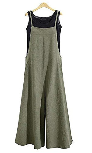 NuoReel Womens Suspenders Overalls Plus Size Jumpsuits Loose Wide Leg Romper Pants...