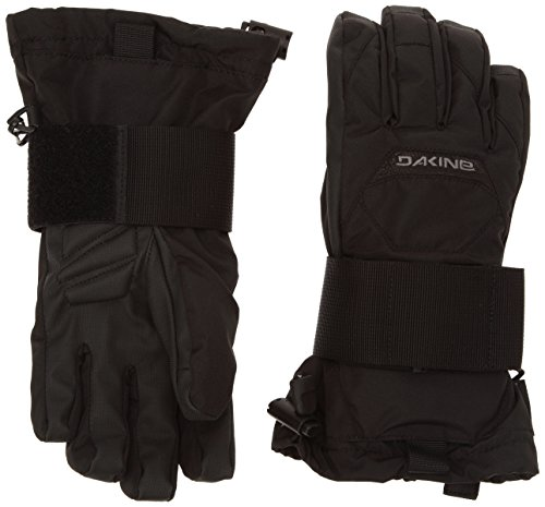 (Dakine Wristguard JR Kids Ski Gloves Medium (Jnr) Black)