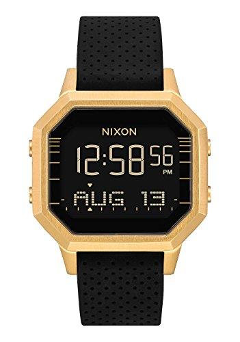 Nixon Women's Siren SS Digital Watch Gold Black Leila Hurst 36mm