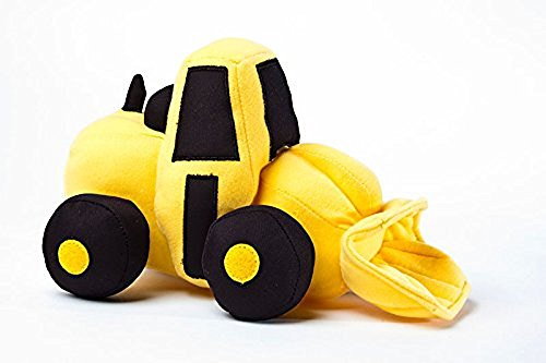 Constructive Eating large Fun Unique Front Loader Plush It is a soft, stuffed construction vehicle.