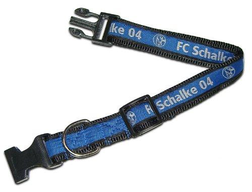 Trade Con Hundehalsband klein FC Schalke 04, Blau/Weiss, 30-45 cm lang