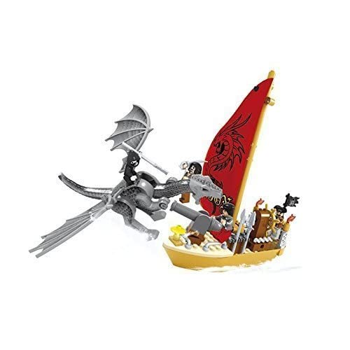 Ausini Pirate Ninja Dragon Hero Reclaiming the Sea with Action Figures Building Bricks Educational Blocks Set Compatible Bricks, 132 Piece