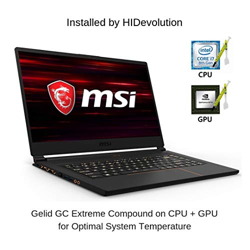 "HIDevolution MSI GS65 8SE Stealth 15.6"" FHD 144Hz Gaming Laptop | 2.2 GHz i7-8750H, RTX 2060, 32GB 2666MHz RAM, PCIe 512GB SSD | Authorized Performance Upgrades & Warranty"