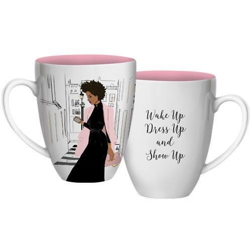 African Mug American (African American Expressions - Show Up Coffee Mug, 15 oz Dishwasher & Microwave Safe (4.25