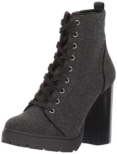 Flannel Ankle Boots - Steve Madden Women's Laurie Ankle Bootie, Grey Flannel, 8.5 M US