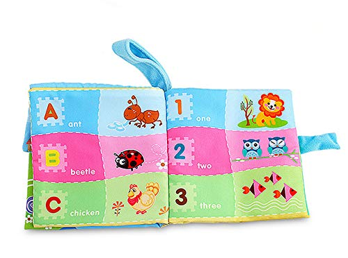 Non-Toxic SHL Montessori Cloth Book Touch and Feel Crinkle Books for Toddler Infants Early Education Toys Interactive Soft Activity Baby Books