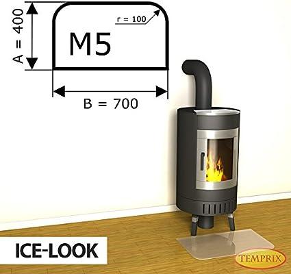 forma M2 Negro M5 Placa de suelo para chimenea M3 M4