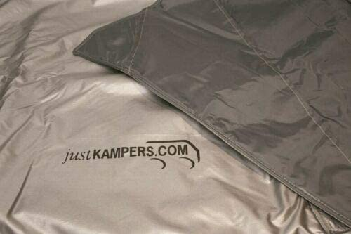 Just Kampers External Thermo Silver Screen Windscreen Cover wrap Black Out VW T25 T3 1979-92