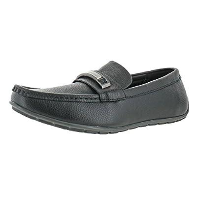 Calvin Klein Men's Irving Tumbled Leather Slip-On Loafer