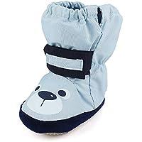 Baby Boys' Girls' Premium Soft Anti Skid Warm Winter Infant Prewalker Toddler Snow Boots Crib Shoes 6-12 Months
