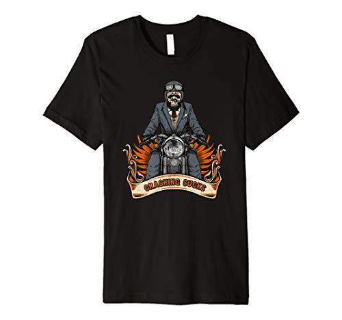 (Crashing Sucks Motorcycle Shirt Funny Biker Suit Skeleton )