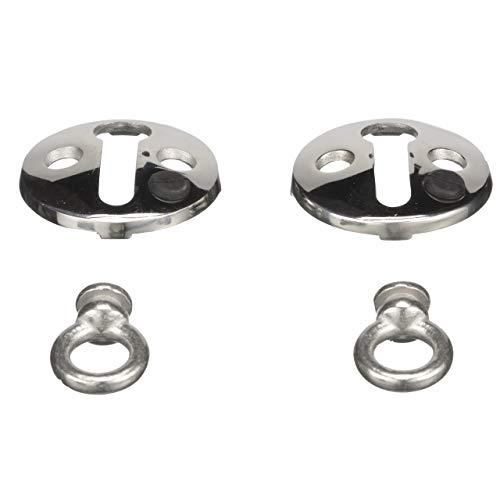 Seachoice 30121 Fender Lock, Stainless Steel, 1 ½-inch Flange, 3/8-inch Interior Diameter of Eye, Pack of 2