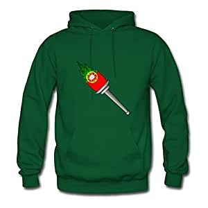 Customized Women The Olympic Flames Torch Portugal Printed X-large Hoodies Green