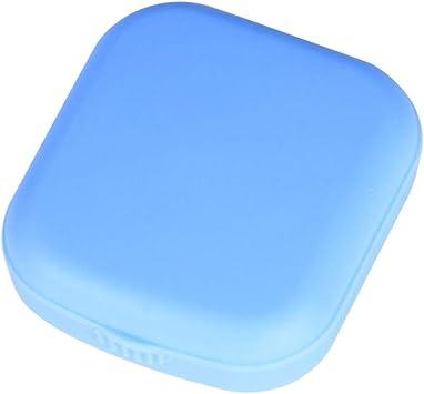 Drawihi 1 Pieza Estuche de Lentes de Contacto Simple con Espejo Portatil Caja de Lentes de Contacto de Viaje Selección de Color Aleatorio: Amazon.es: Salud y cuidado personal