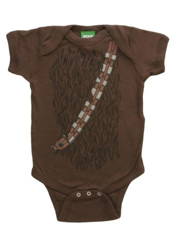 Star Wars I Am Chewbacca Costume Infant Baby Romper Snapsuit 6 Months (Star Wars Chewbacca Costume)