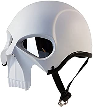 3D Skull Skeleton Matte Motorcycle Helmet