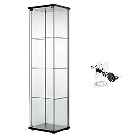 Amazon.com: Ikea Detolf Glass Curio Display Cabinet Black ...