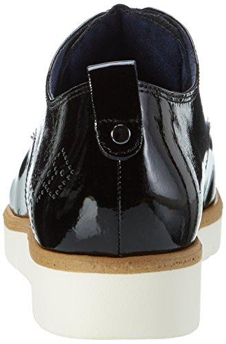 Tamaris 23302, Zapatos de Cordones Oxford para Mujer Negro (BLACK PATENT 018)