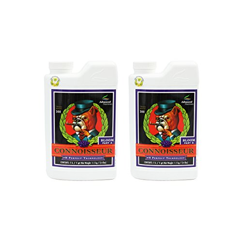 Advanced Nutrients Connoisseur Part - Advanced Nutrients 1660-14AB pH Perfect Connoisseur Bloom Part A+B, 1 Liter, Brown/A