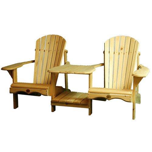 (Bear Chair Adirondack Tete-a-Tete Kit, Pine, BC900P)