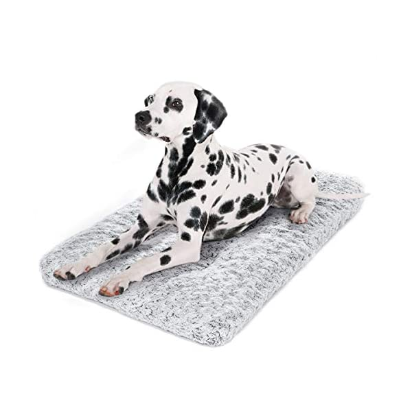 JOEJOY Dog Bed Kennel Pad Washable Anti-Slip Crate Mat for Large Dogs and Cats (36-inch)