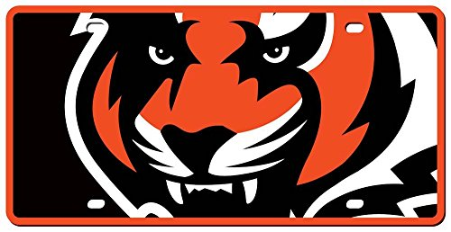 picture of Cincinnati Bengals License Plate - Acrylic Mega Style