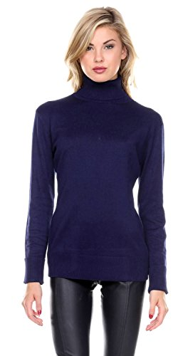 Stanzino Womens Ribbed Turtleneck Sweater