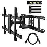 "TV Wall Mount Full Motion Fits 16"", 18"", 24"" Wood Studs, Articulating Swivel"