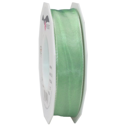 Morex Ribbon French Wired Lyon Ribbon, 1-Inch by 27-Yard Spool, Mint Green