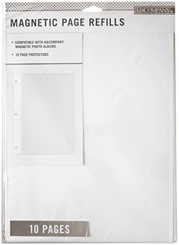 K & Company Page Protector Refill Kit Photo Album Magnetic 10pc ()