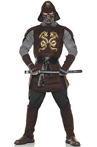 Men's Samurai Warrior Costume, Brown, One Size
