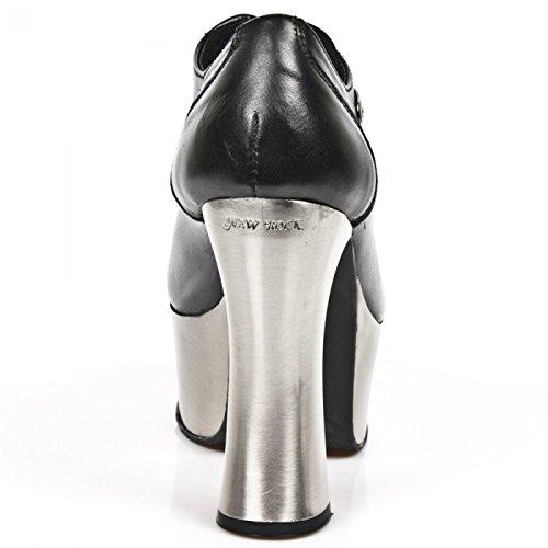 New Rock Boots M.dk004-c11 Gotico Hardrock Punk Damen Highheels Schwarz