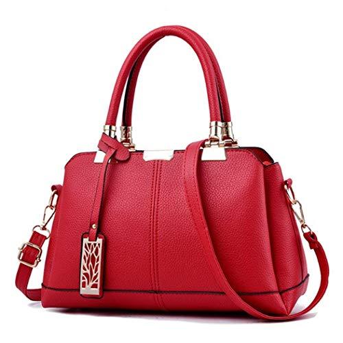 tracolla Dimensione Colore donna con tracolla a da a Moontang Nero Rosso in vintage tracolla ecopelle Borse 7HFRxq6wqn
