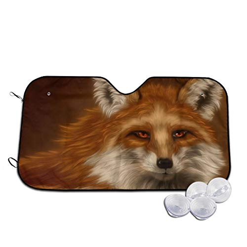 Michelle Brightful Car Windshield Sun Shade Fox Paint