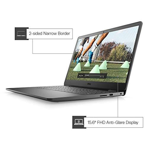 "Dell Inspiron 3505 15.6"" FHD Anti Glare Display Laptop (Ryzen-3 3250U / 8GB / 256 SSD / Vega Graphics / 1 Yr NBD / Win 10 + Office H&S/ Accent Black) D560392WIN9BE"