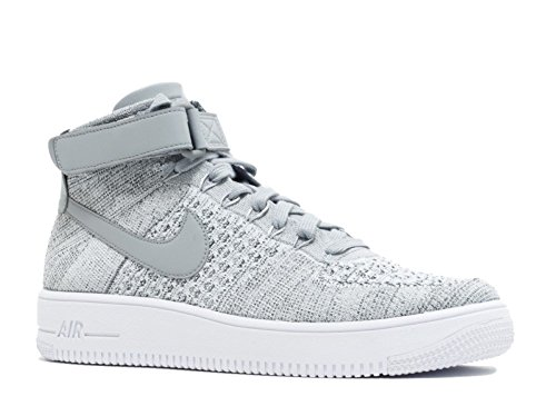 Nike Air Force 1 Ultra Flyknit Mid Grey / White 817420-003 (TAMA?O: 11.5)