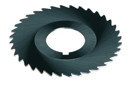 Cleveland C45548 Plain Metal Slitting Saw, High-Speed Steel, 40 Teeth, 4'' Cutter Diameter, 1/64'' Face Width, 1'' Hole Size (Pack of 6)
