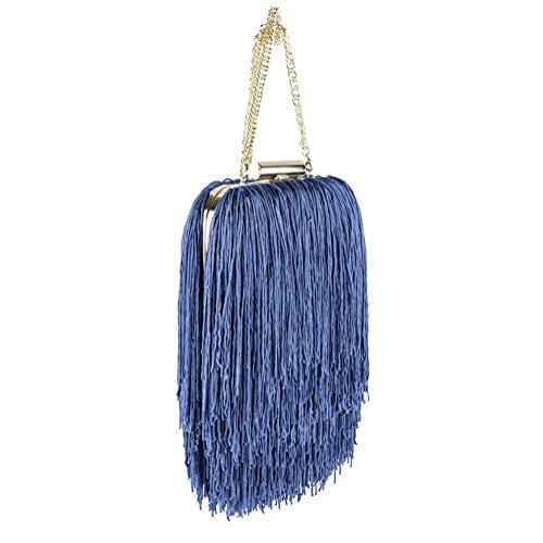 Borsa clutch, Cinzia Azzurra, In raso