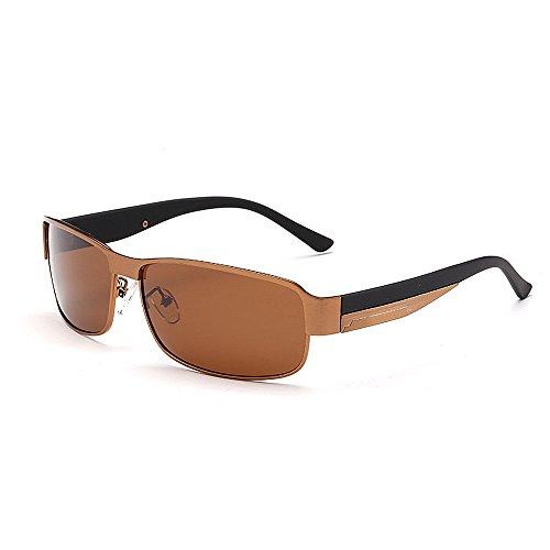 Yeux Yxsd Polarisées de extérieur la Or Couleur en Soleil des Lunettes Les Hommes Brown conduisant Métal UV Sport protéger Protection Armature rWrBnT