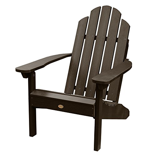 - Highwood AD-CLAS1-ACE Hamilton Adirondack Chair, 29.75W x 34.5D x 39.5H in. in, Weathered Acorn